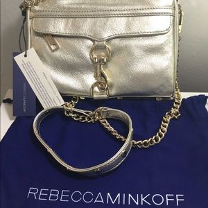 Rebecca Minkoff Pewter Mini Mac Cross Body